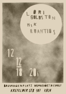 Lori Goldston + Mik Qunatius * Sunshine Bar Spezia * 12.12.2018 * Bauwagenplatz Wem gehört die Weltl