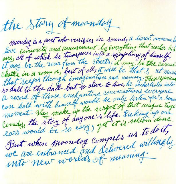 moondog is a poet who...